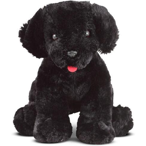 Melissa Doug Benson Black Lab Stuffed Animal Puppy Dog Target