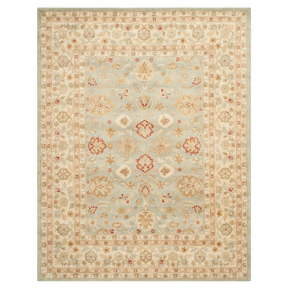 Floral Tufted Area Rug Gray/Blue