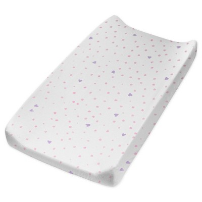 Honest Baby Organic Cotton Changing Pad Cover - Love Dot
