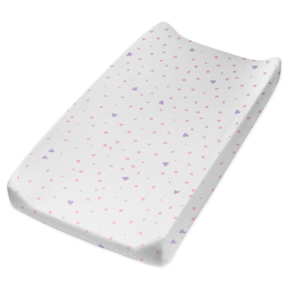 Honest Baby Organic Cotton Changing Pad Cover Love Dot