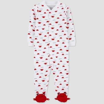 Baby Boys' Crab One Piece Pajama - Just One You® made by carter's White 6M