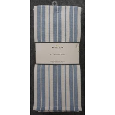 5pk Cotton Kitchen Towels Blue - Threshold™