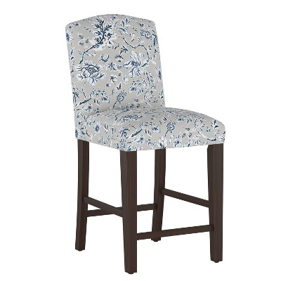 Camel Back Counter Height Barstool Indian Blockprint Gray - Skyline Furniture