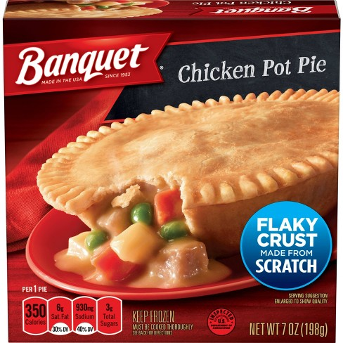 Banquet Frozen Microwaveable Chicken Pot Pie - 7oz - image 1 of 3