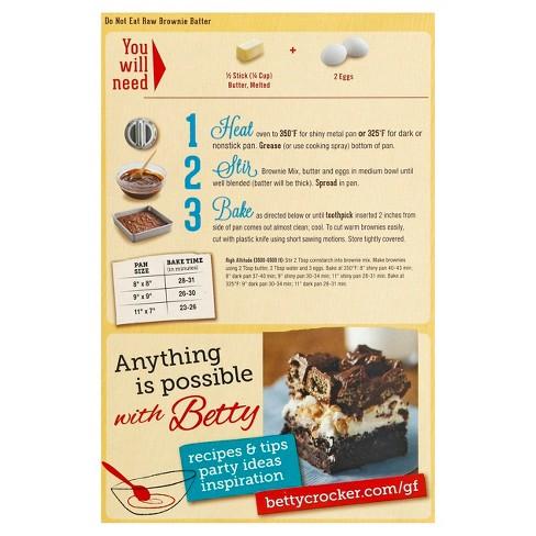 Betty Crocker Gluten Free Chocolate Brownie Mix 16oz Target