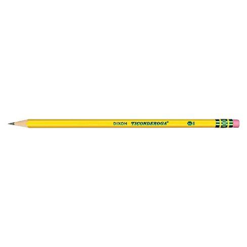 ticonderoga pre sharpened pencil hb 2 yellow barrel dozen target