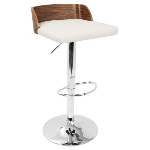 Stupendous Maya Mid Century Modern Adjustable Barstool Lumisource Evergreenethics Interior Chair Design Evergreenethicsorg