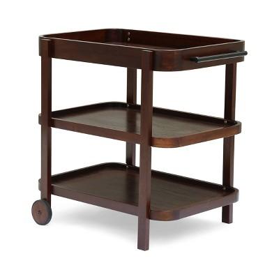 Selleck Wood Bar Cart Brown Mahogany - Christopher Knight Home
