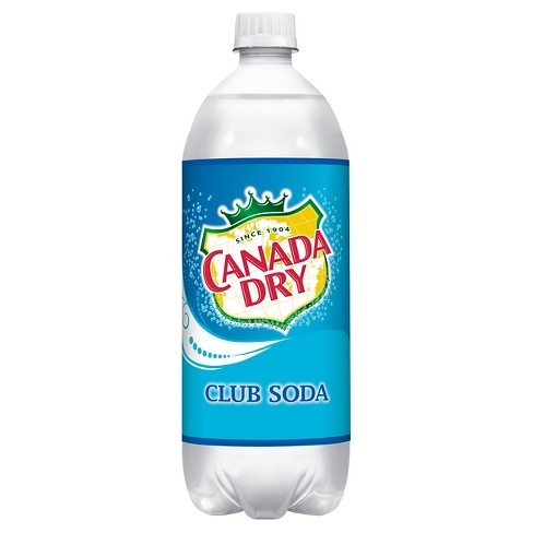 Canada Dry Club Soda - 1 L Glass Bottle - image 1 of 1
