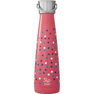 Sip by Swell 15oz Stainless Steel Water Bottle Confetti Party Dark Salmon