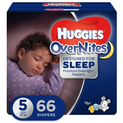 Huggies OverNites Diapers - Size 5 (66ct)