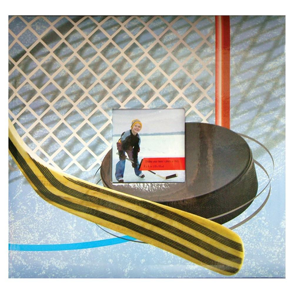Image of Sport & Hobby Hockey Postbound Album - (12x12), Blue/White