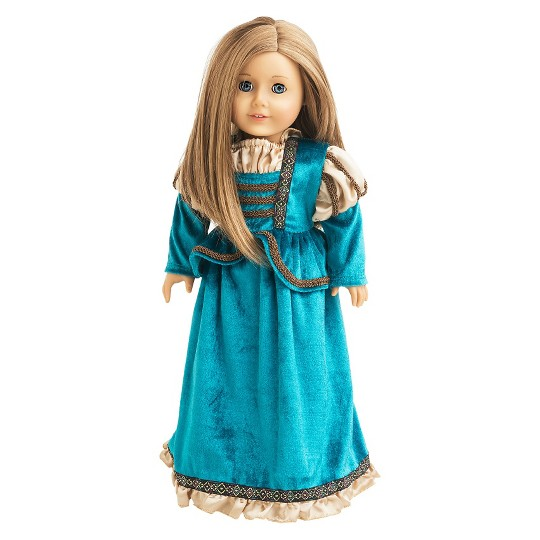 Little Adventures Doll Dress - Scottish Princess, Size: One Size, Green image number null