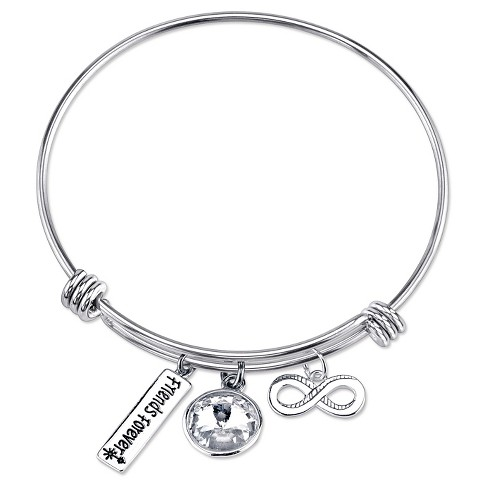 Women's 'Friends Forever' Expandable Bangle - Silver - image 1 of 2
