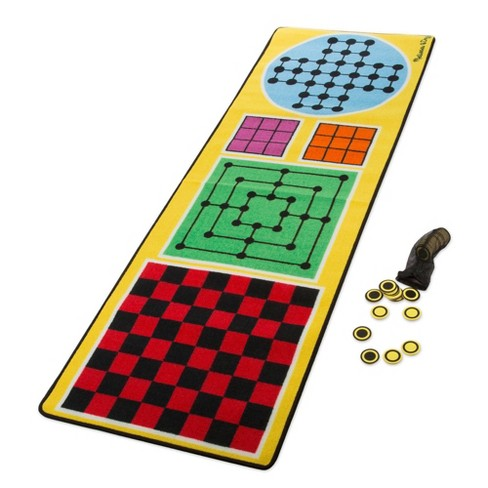 Melissa & Doug 4-in-1 Game Rug (78.5 x 26.5 inches) - 4 Board Games, 36 Gamepc - image 1 of 3