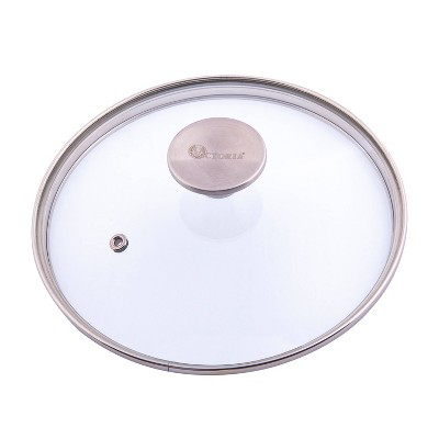 "Victoria Glass Lid with Stainless Steel Knob for 6.5"" Skillet"
