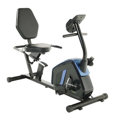 Exerpeutic Easy Step Thru Magnetic Recumbent Exercise Bike with Extended Weight Cap - Black