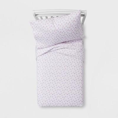 Hearts Violet 100% Cotton Sheet Set (Toddler)- Pillowfort™