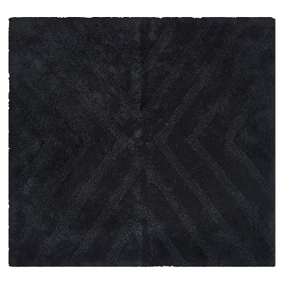 Textured Stripe Square Bath Rug Galaxy Black - Project 62™ + Nate Berkus™