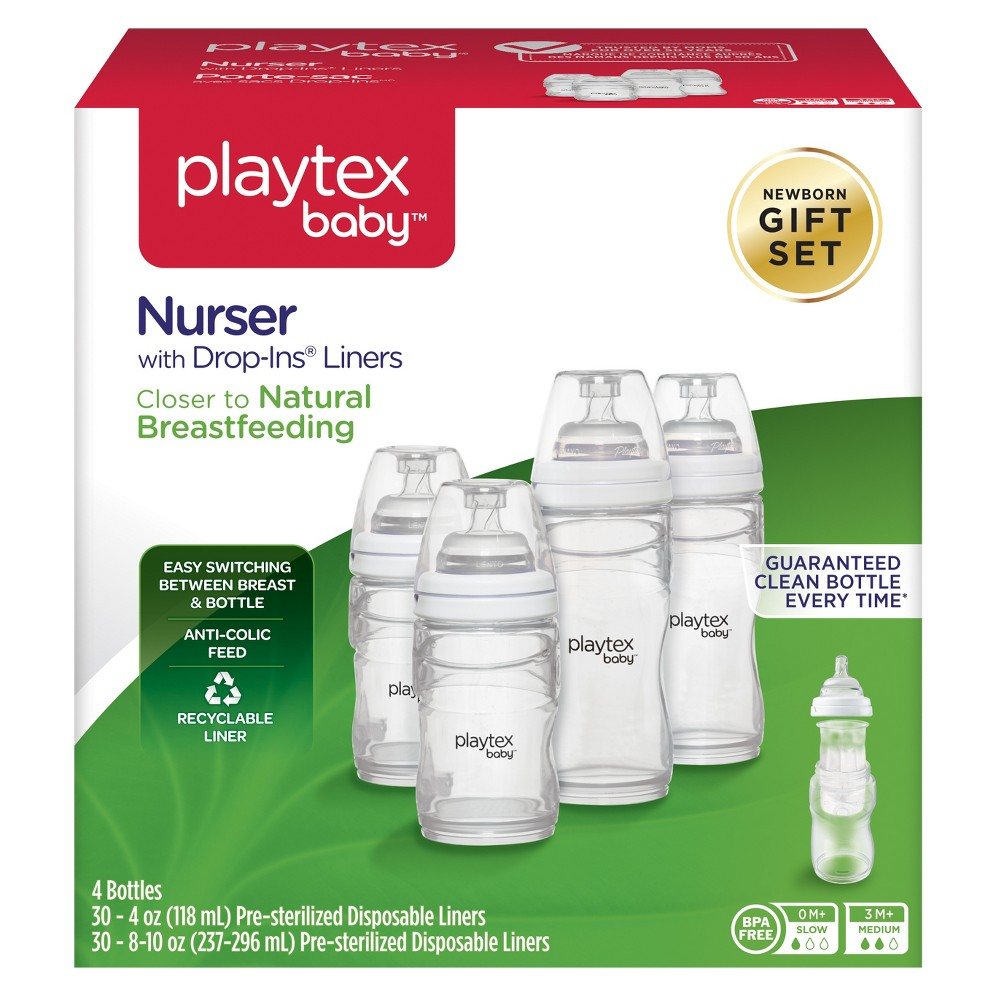Playtex Baby Nurser With Drop-Ins Liners Gift Set, Multi-Colored