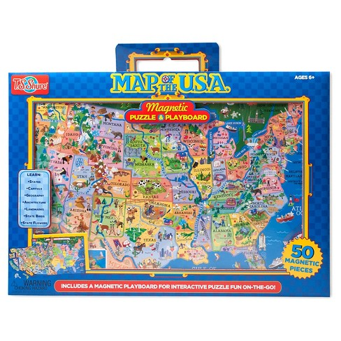 T.S. Shure - USA Magnetic Play board Puzzle 50pc - image 1 of 3