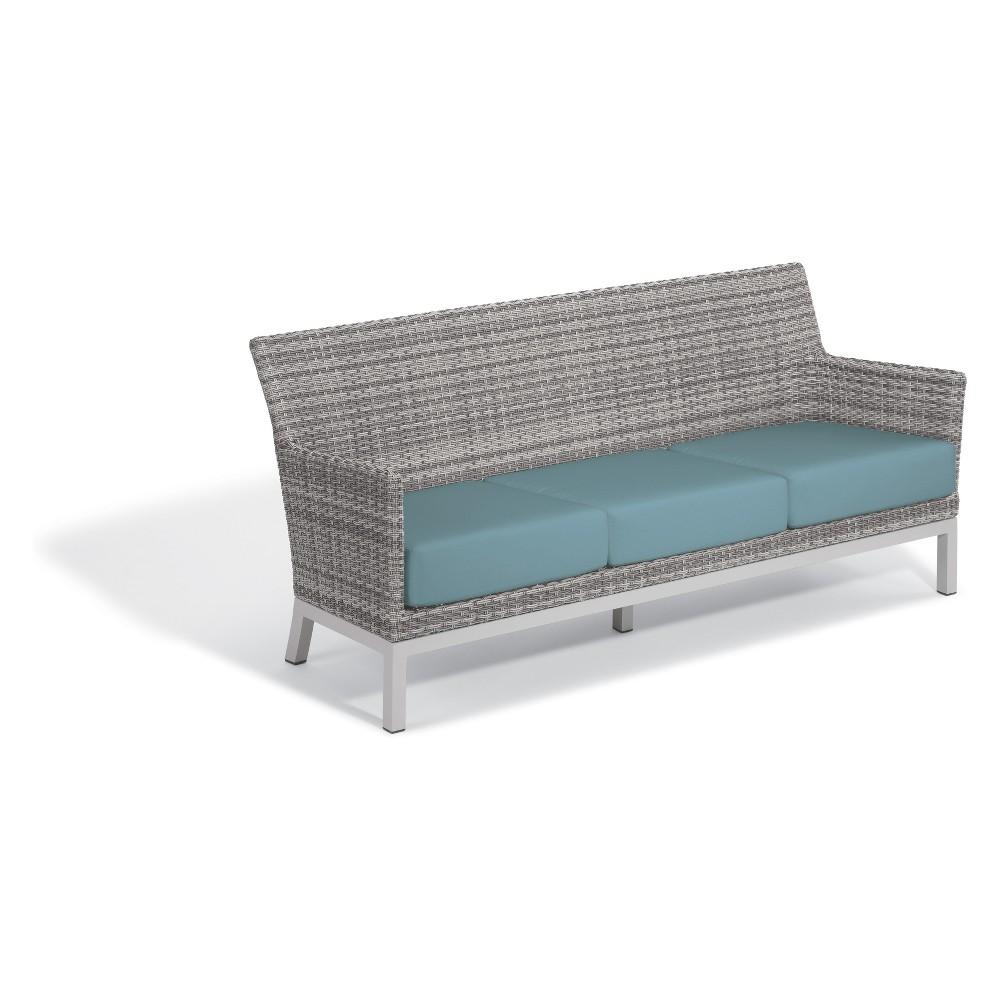 Argento Sofa with Lumbar Pillow Ice Blue - Oxford Garden