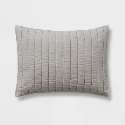 Standard Herringbone Flannel Sham Natural - Threshold™