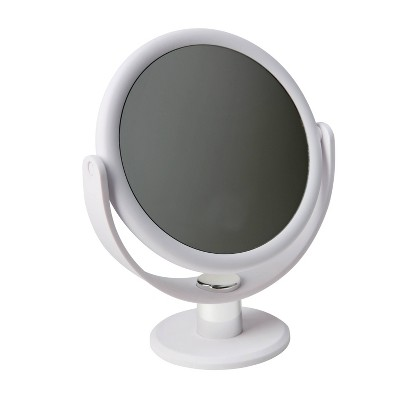 "7"" Vanity Rubberized 1X-10X Magnification Mirror - Home Details"