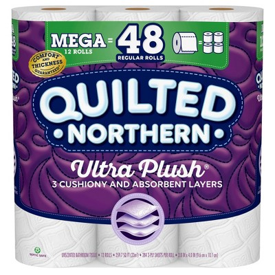 Quilted Northern Ultra Plush Toilet Paper - 12 Mega Rolls