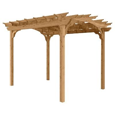 10' Cedar Pergola - Wood - Suncast