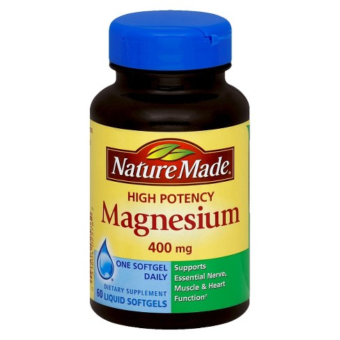 Nature Made High Potency Magnesium Dietary Supplement Liquid Softgels - 60ct - image 1 of 1
