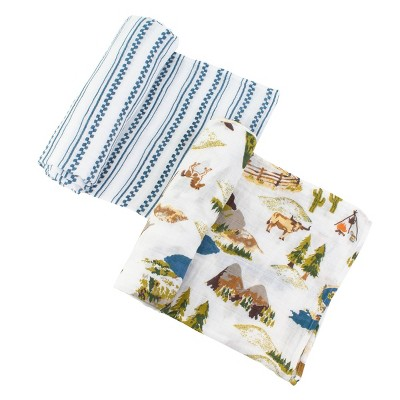 Bebe au Lait Muslin Swaddle Set Wyoming - Western Stripe