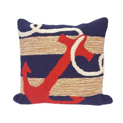 18 X18 Anchor Indoor Outdoor Square, Outdoor Anchor Pillow