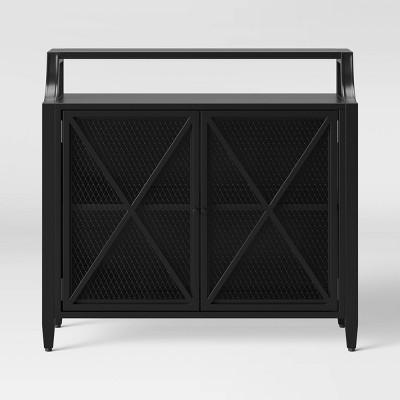 Fairmont Metal 2 Door Cabinet Black - Threshold™