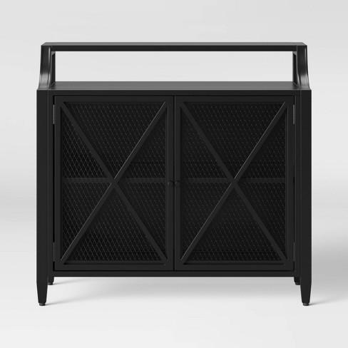 Fairmont Metal 2 Door Cabinet Black Threshold