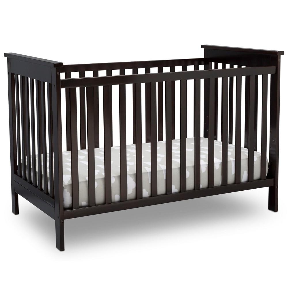 Image of Delta Children Adley 3-in-1 Crib - Dark Chocolate, Dark Brown