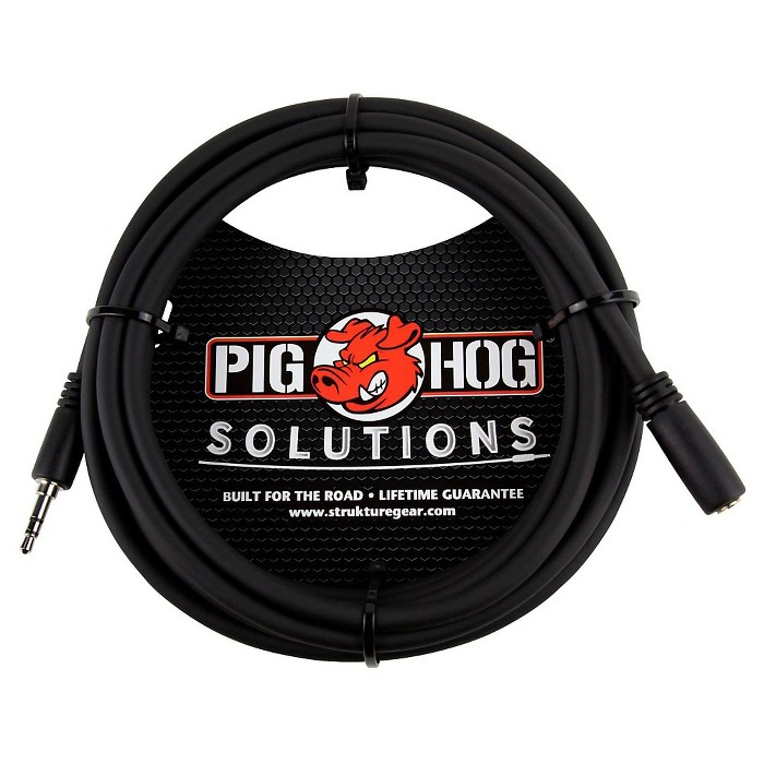 Pig Hog Solutions Headphone Extension Cable 3.5mm (10 ft.) 10 ft. - image 1 of 1