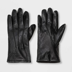 Men's Thinsulate Lined Tech Touch Leather Dress Gloves - Goodfellow & Co™ Black