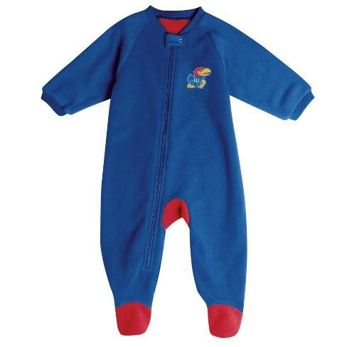 NCAA Kansas Jayhawks Baby Boys' Blanket Sleeper : Target