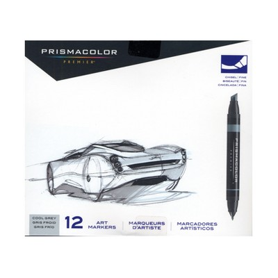 Art Marker Set 12ct Grays - Prismacolor