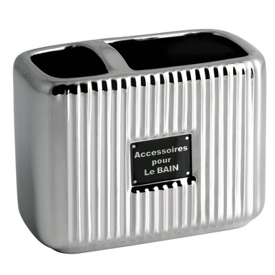 Le Bain Toothbrush Holder Silver - Allure Home Creations