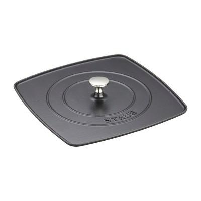 Staub Cast Iron 10.3-inch Square Grill Press - Matte Black (Fits 12-inch Grill Pan)