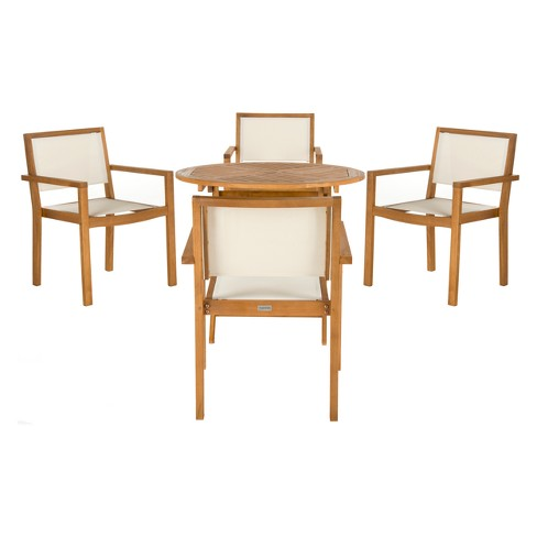 Chante 5pc Dining Set - Teak - Safavieh - image 1 of 4