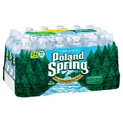 Poland Spring Brand 100% Natural Spring Water - 24pk/16.9 fl oz Bottles