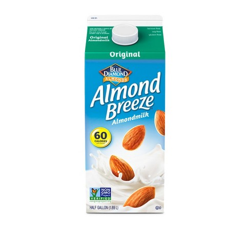 Blue Diamond Rich & Creamy Almond Breeze All Natural Unsweetened Original Almond Milk - 0.5gal - image 1 of 1