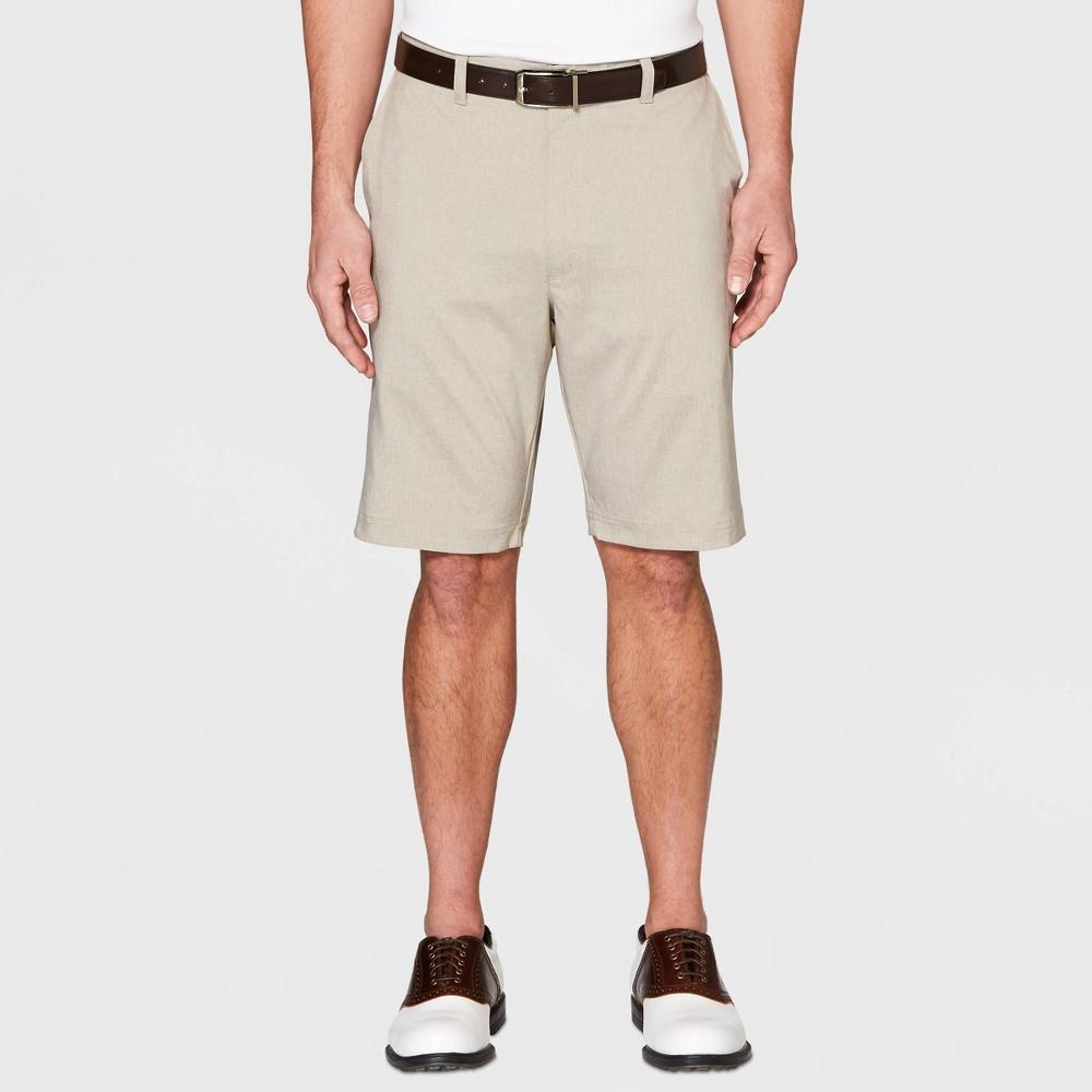 Jack Nicklaus Men's Heathered Golf Shorts - Khaki Heather 32