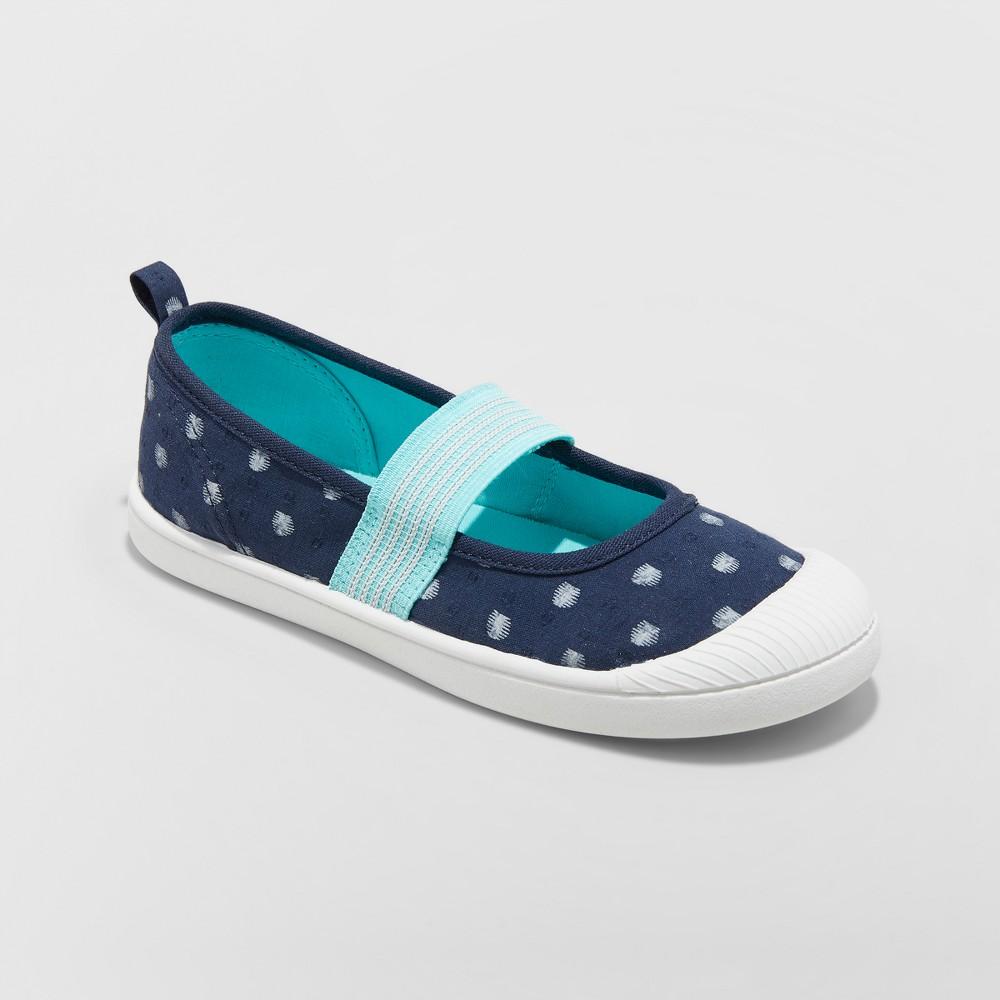 Girls' Margie Polka Dot Mary Jane Shoes - Cat & Jack Navy 3, Blue
