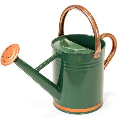 Best Choice Products 1-Gallon Galvanized Steel Watering Can for Gardening w/ O-Ring, Top Handle, Copper Accents