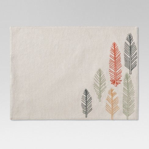 Beige Feather Placemat - Threshold™ - image 1 of 1