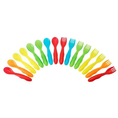 The First Years Multi Take & Toss Flatware (16ct)